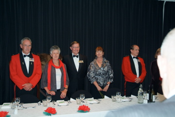top table right - Bill and Sue Blair, Kevin and Valerie O'Brien, Baden Ewart - Baden is formerly NZ Component 1970 and presently Honorary Colonel 2/1 RNZIR [Binning]