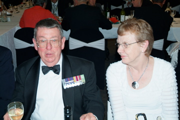 Ron Coy HQ CQMS and Margaret Lichtwark [Binning]