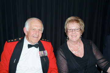 Bob 2Pl and Rhonda Upton - Bob is presently Colonel of the Regiment RNZIR [Binning]
