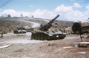 "US Army 8"" propelled artillery at the Horseshoe March 1970 [Stock]"
