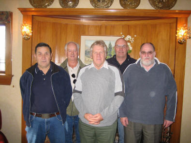 [L to R] Doc Welsh, George Preston, Neil Ure, Bruce Young, Peter Henderson