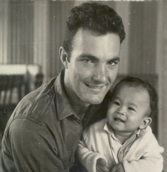 Cpl Bruce Young & orphan, Baria Orphanage 1970 [Young]