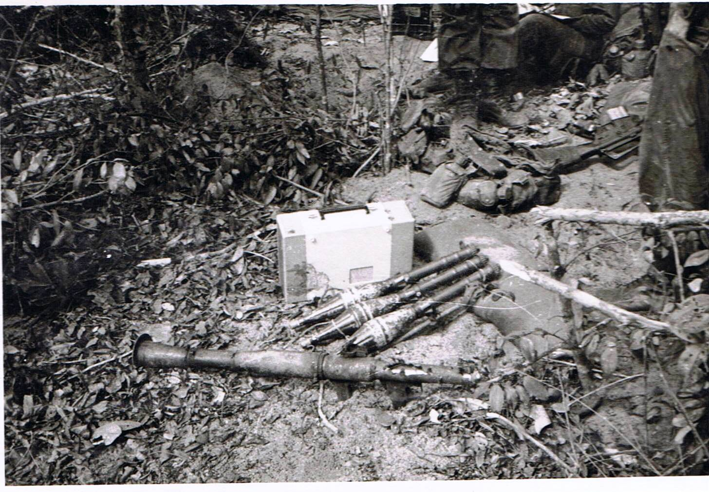 cache found under tree in Light Green area 18 March 1970 [Brooker]