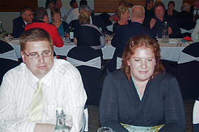 Sean McFarlane and Lisa Ure who manufactured the neck tags and otherwise worked hard in the background [Binning]