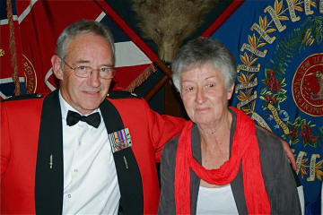 Major Bill 1Pl and Sue Blair - Bill as last serving officer was dining president [Binning]