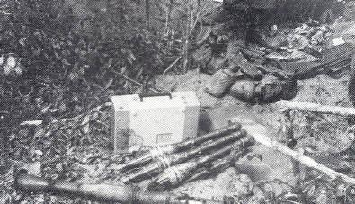 VC weapons & ammo captured in Light Green area NE of Horseshoe [probably 1Pl]