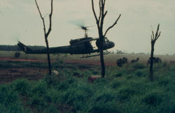 resupply in field by 9Sqn RAAF helicopter