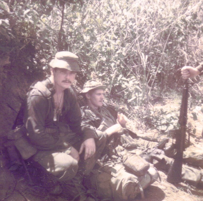 Lbdr Bob Brumm & Lt O'Brien in the Nui Dinh mountains [O'Brien]