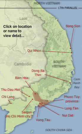 map courtesy of http://www.vietnamwar.govt.nz/resources/location-map-new-zealanders-in-vietnam